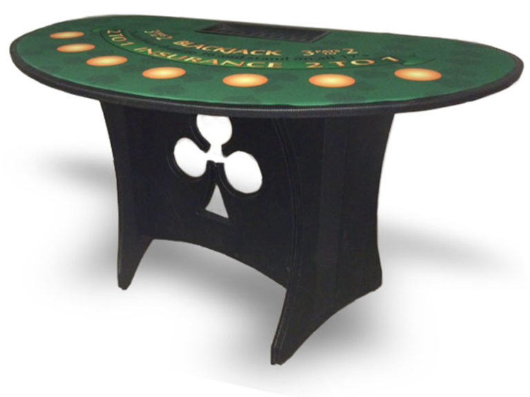 Portable Blackjack Table in Walnut Trailer Villa, California