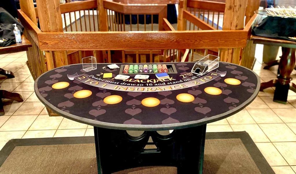 WBC Blackjack Tables in Bryte, California